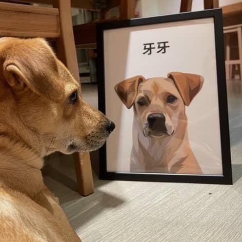 客製化狗狗肖像畫